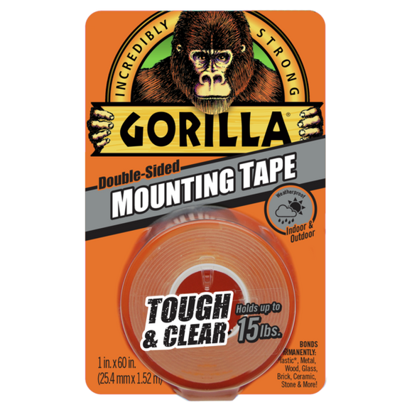 Gorilla Tough & Clear Mounting Tape #6065001, 1