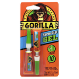 Gorilla Super Glue Gel #7820001, Two 3 g Tubes  - Pack of 3 - AutoCareParts.com