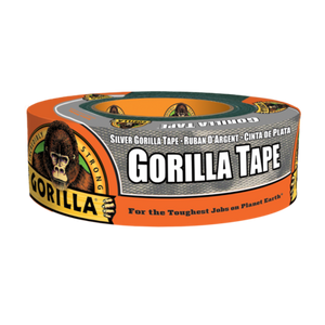 "Gorilla Silver Duct Tape #6074001, 1"" x 35 yd - Pack of 6 - AutoCareParts.com"