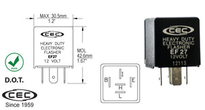 CEC Electronic Flasher #EF27 - AutoCareParts.com