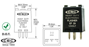CEC Electronic Flasher #EF29 - AutoCareParts.com