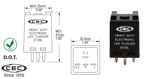 CEC LED Electronic Flasher #EF29L - AutoCareParts.com