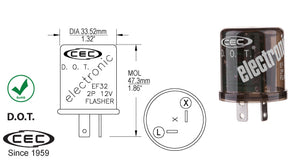 CEC Electronic Flasher #EF32 - AutoCareParts.com
