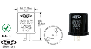 CEC LED Solid State Electronic Flasher #EF32SS-R - AutoCareParts.com
