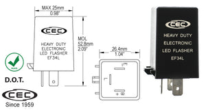 CEC LED Electronic Flasher #EF34L - AutoCareParts.com