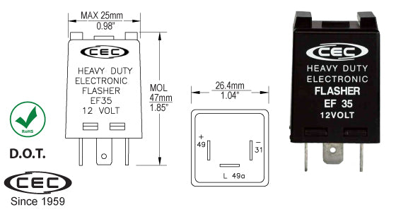 CEC Electronic Flasher #EF35 - AutoCareParts.com