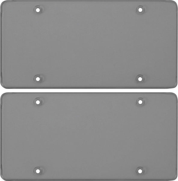 Cruiser Accessories Smoke Polycarbonate Tuf Flat Novelty/License Plate Shield (2 Shields)