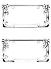 Cruiser Accessories Chrome Palm Tree Frame (2 Frames)