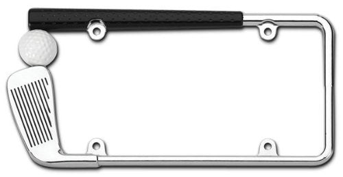 Cruiser Chrome/Painted 'Golf Club' License Frame #19509 - 2 Frames - AutoCareParts.com