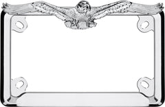 Cruiser Accessories 77023 Chrome MC Eagle License Plate Frame