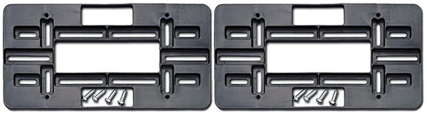Cruiser Accessories License Plate Black Mounting Plate (2 Pack)