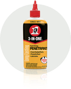 3-In-One Fast-Acting Penetrant Oil #120015, 4 Oz - AutoCareParts.com