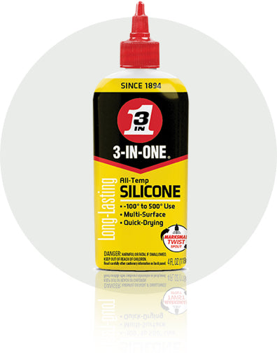 3-In-One All-Temp Silicone Lube #120008, 4 Oz - AutoCareParts.com