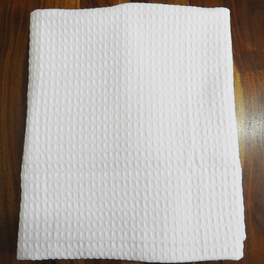 Love For White Bath Towel- Quick Dry Waffle
