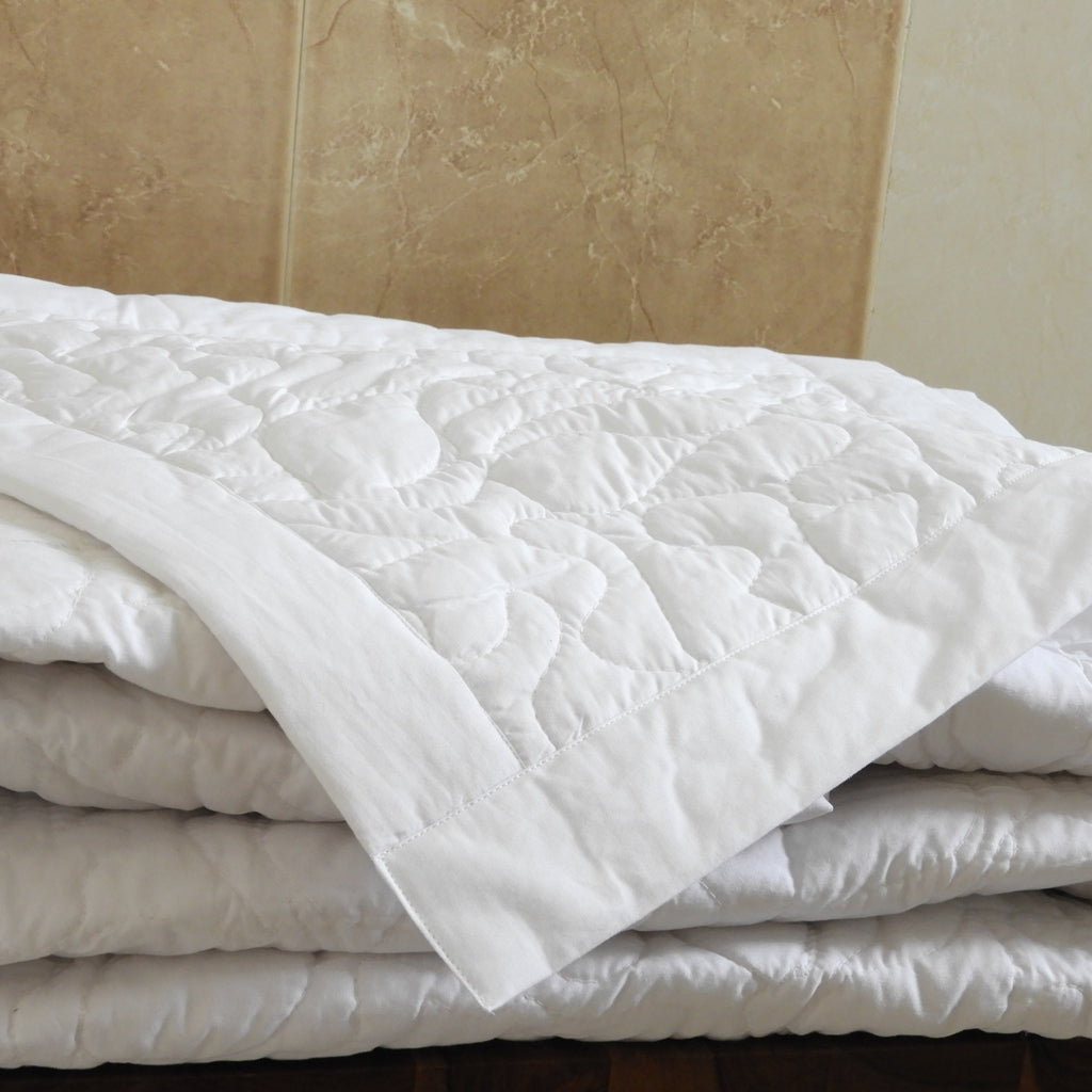 Love For White quilted Bed Cover - White