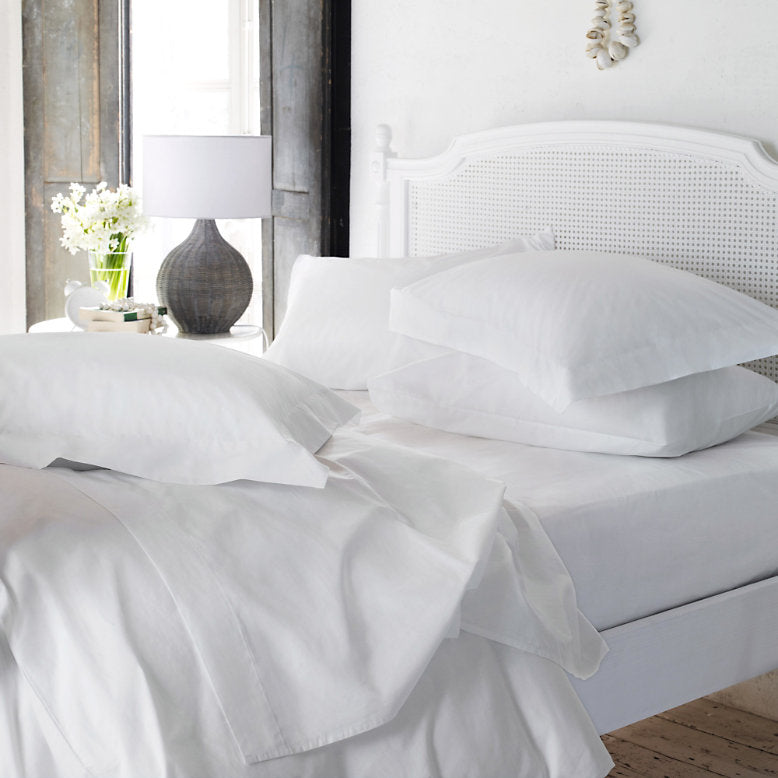 Love For White Bed Sheet - 200TC Premium
