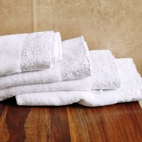 Love For White Hand Towel Set Of 4 - Crochet