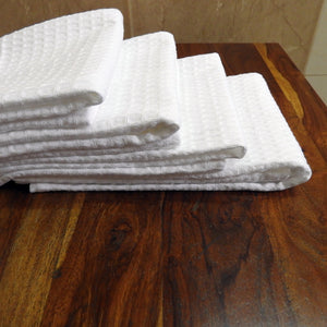 Love For White Hand Towel Set of 4- Quick Dry Waffle