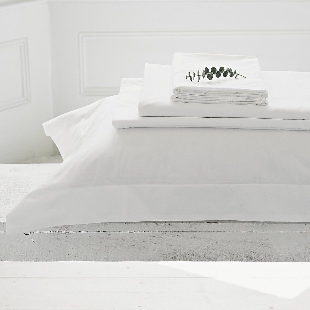 Love for White Pillow Covers Set of 2 - 300TC Luxury