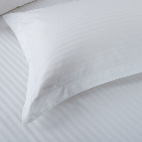 Love For White Pillow Covers Set of 2 - 300TC Satin Stripes
