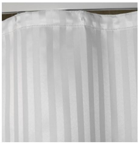 Love For White White Stripe Shower Curtain