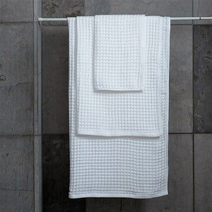 Love For White Quick Dry Waffle Towel Set