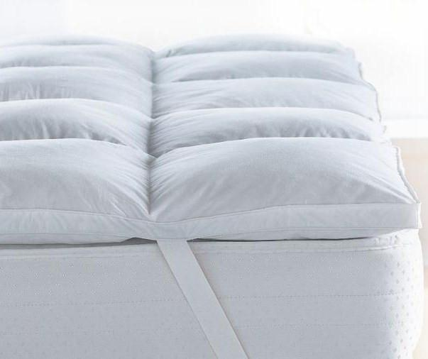 Mattress Topper Supersoft Microfiber Love For White