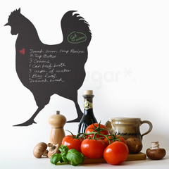 ROOSTER CHALKBOARD DECAL / DRY ERASE DECAL
