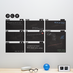 CHALKBOARD / DRY ERASE CALENDAR WITH MEMO AREA