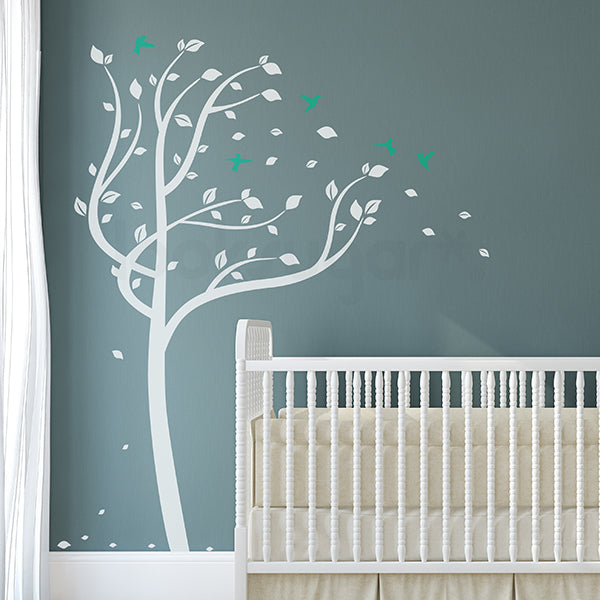 TREE IN THE WIND NURSERY WALL DECAL