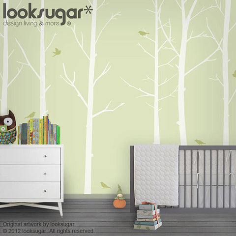NURSERY WINTER TREE WALL DECALS