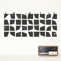 ABSTRACT CHALKBOARD / DRY ERASE CALENDAR