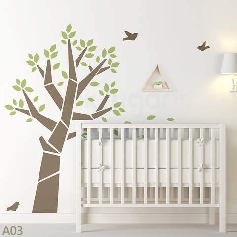 MODERN BABY NURSERY TREE WALL DECALS Part 80