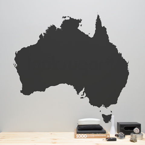 Decals maps looksugar australia map decal gumiabroncs Choice Image