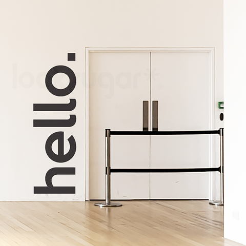 HELLO WALL DECAL / DOOR DECAL