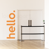 HELLO DOOR DECAL - GREETING WALL STICKER