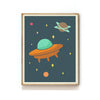 OUTER SPACE NURSERY ART PRINT - UFO