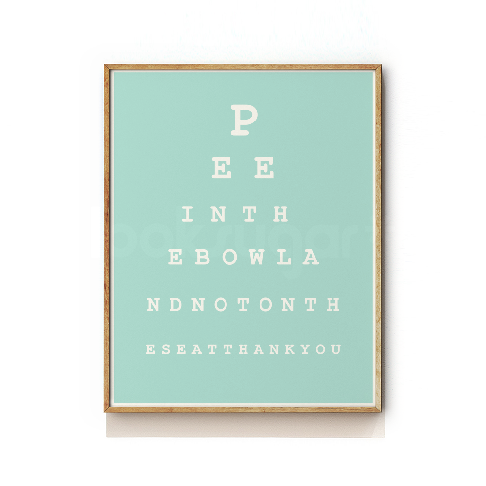image relating to Eye Chart Printable referred to as Rest room EYE CHART Artwork PRINT - GENTS Edition - looksugar