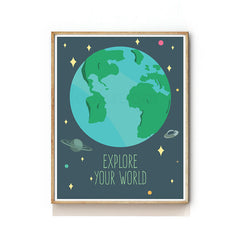 OUTER SPACE NURSERY ART PRINT - PLANET EARTH