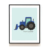 CONSTRUCTION VEHICLE NURSERY ART PRINT - DUMP TRUCK