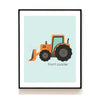 CONSTRUCTION VEHICLE NURSERY ART PRINT - CONCRETE MIXER TRUCK