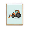CONSTRUCTION VEHICLE NURSERY ART PRINT - FRONT LOADER TRACTOR