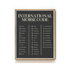 INTERNATIONAL MORSE CODE ART PRINT