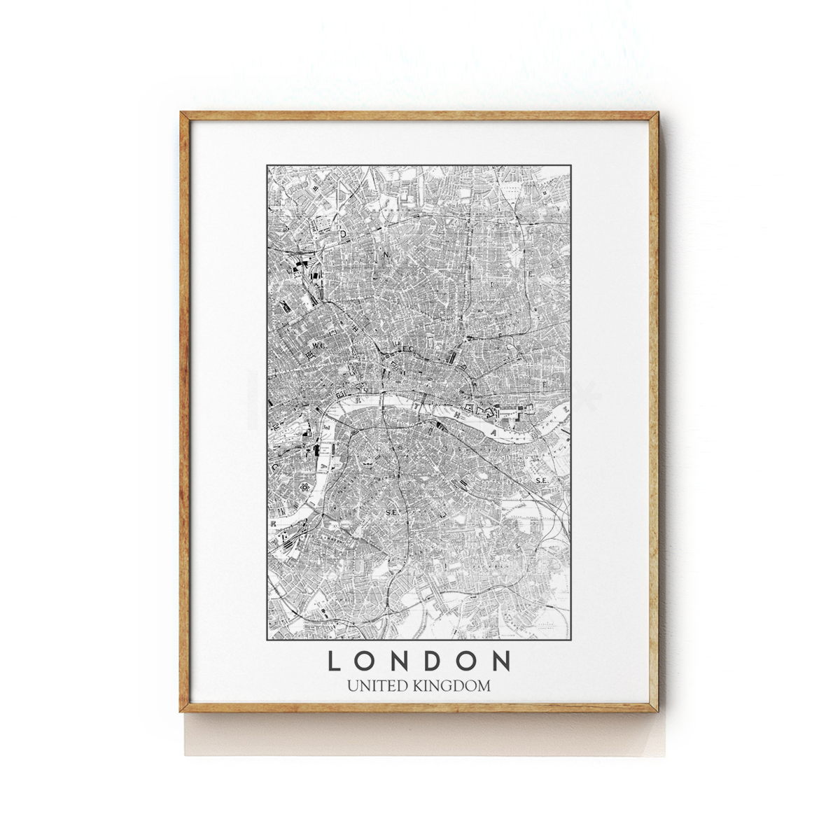 LONDON - UNITED KINGDOM - MAP ART PRINT