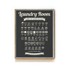 LAUNDRY CARE SYMBOLS ART PRINT