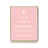 BATHROOM EYE CHART ART PRINT - LADIES VERSION