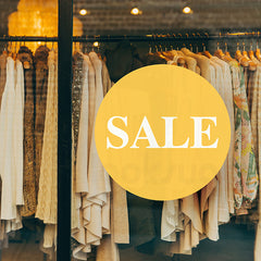 SALE - RETAIL SHOP WINDOW DECAL
