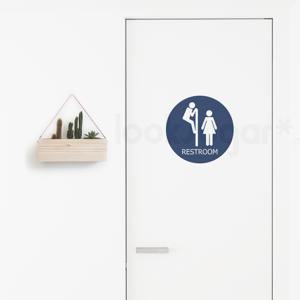 FUNNY RESTROOM SIGN DECAL