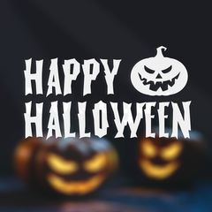 HAPPY HALLOWEEN DECALS - WINDOW / WALL / DOOR
