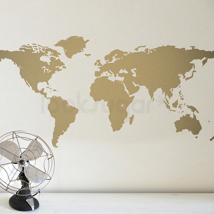 World map wall decal looksugar world map wall decal gumiabroncs Choice Image